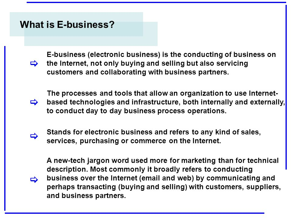 What is E-business [ [ [ [